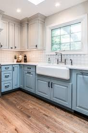 blue kitchen cabinets grey walls blue cabinets with granite countertops design ideas