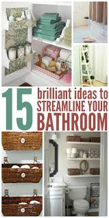 diy bathroom tips and organization ideas