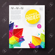 colorful geometric business report design template for the