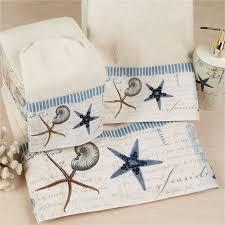 starfish towel antigua starfish coastal bath towel set