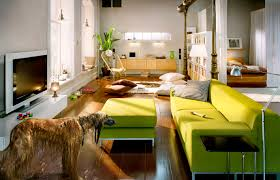 small family room idea with fireplace modern family room design