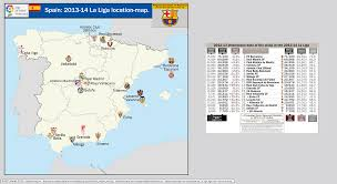 Madrid Spain Map by Spain 2013 14 La Liga Location Map With 2012 13 Attendance Data
