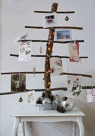 homemade christmas card display tree