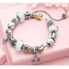 pandora charm silver bracelet images Heart with 14k safety chain 210386 cheap pandora charms silver jpg