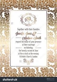 Wedding Invitation Card Templates Vintage Baroque Style Wedding Invitation Card Stock Vector