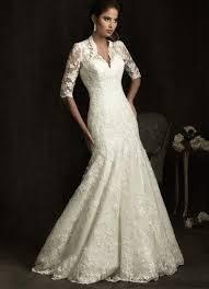 lace 3 4 sleeve wedding dress v neck mermaid 3 4 sleeves lace wedding dress rdevine