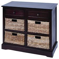 Mastercraft Kitchen Cabinets Mastercraft Basket Cabinet With 4 Wicker Baskets Beach Style