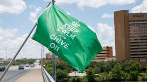 Standard Golf Flag Size Keep Calm And Chive On Flag Green U2013 The Chivery
