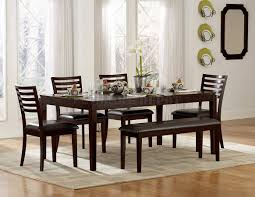 kitchen dining table with bench against wall home design ideas full size kitchen elegant wooden espresso color dinette sets with bench plus cream rug