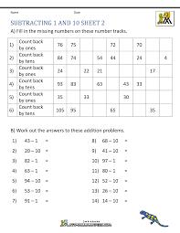 2nd grade subtraction worksheets