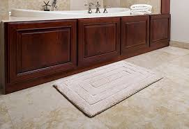 Memory Foam Bathroom Rugs Luxe Memory Foam Bath Rug Sharper Image