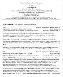 federal resume example 7 samples in word pdf