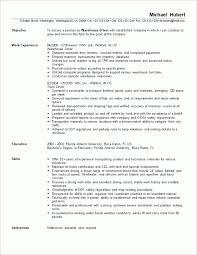 warehouse resume exles resume exles for warehouse position resume sle