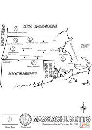 Massachusettes Map by Massachusetts Map Coloring Page Free Printable Coloring Pages