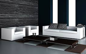 black and white living room furniture acrylic coffee table wall