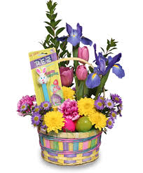 send easter baskets easter flower arrangement pictures easter flower baskets