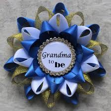 royal blue corsage royal baby shower decorations prince baby shower corsage