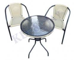 Round Bistro Table Glass Top Bistro Table Set Foter