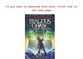 read the hammer of thor magnus chase and the gods of asgard onli