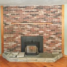 pics photos stone veneer fireplace installation over brick pics