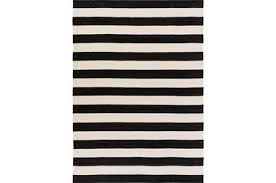 Black And White Outdoor Rug 60x96 Outdoor Rug Black White Cabana Stripe Living Spaces