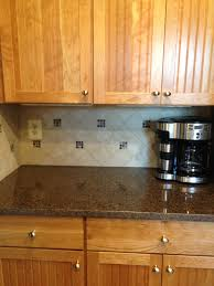 Kitchens With Tile Backsplashes Kitchen Remodel Maroon Costar Granite Countertop With Tile