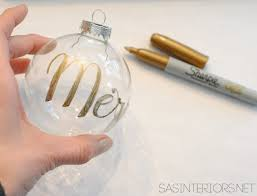 season personalized clear glass ornament