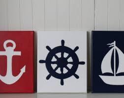 Sailboat Bathroom Accessories by Ship Wheel Etsy