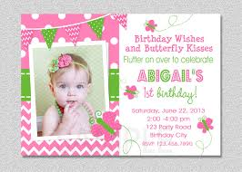 Create 1st Birthday Invitation Card For Free Butterfly Birthday Invitations Plumegiant Com