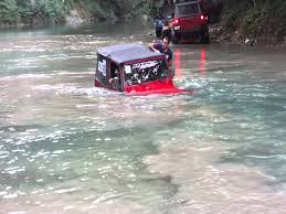water jeep jeep gets stuck driving through water
