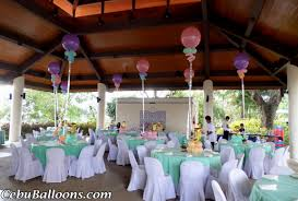 party balloon centerpieces decorating of party