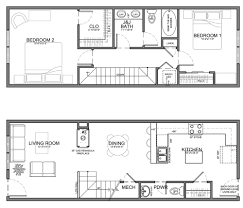 narrow house plans apartment unit plans residential units are 20 wide or wider but