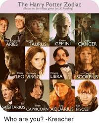 Harry Potter Birthday Meme - 25 best memes about harry potter zodiac harry potter zodiac