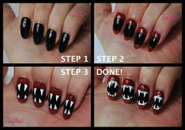 halloween nail art tutorial fangs talonted lex