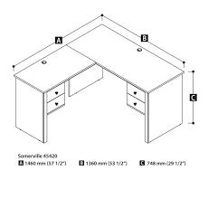 Bestar Corner Desk Office Office Desk Dimensions Delighful Office Desk Sizes Shaped