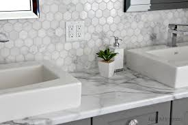 Carrara Marble Kitchen Backsplash Decorating Appealing White Formica Calacatta Marble With Hexagon