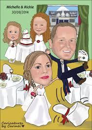 lifting groom wedding caricature