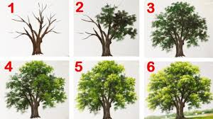 how to paint a tree with acrylic lesson 13