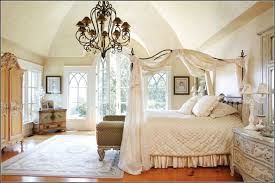 furniture square queen canopy bed frame with white curtains and