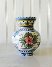 Shabby Chic Pottery by Vintage Frankton Tegelen Butterfly Pottery Planter Made In