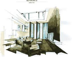 interior sketch free vector download 2 876 free vector for