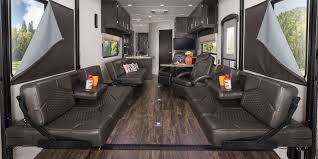 2017 octane toy hauler jayco inc strong ready for relaxation strong fold down sofas turn the garage
