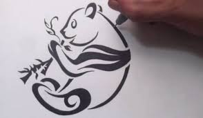 29 tribal panda tattoo designs and pictures