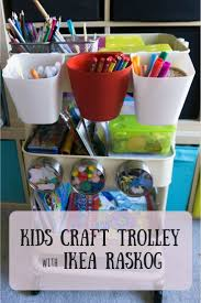 diy craft trolley using ikea raskog scrapbook blog