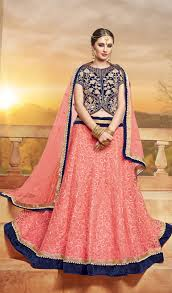 lengha choli for engagement pink velvet circualr lehenga choli for engagement partywear