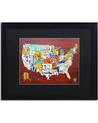 map usa framed slash prices on trademark license plate map usa framed