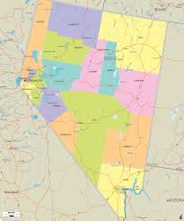 nevada counties map detailed political map of nevada ezilon maps