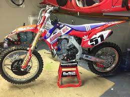 lucas oil pro motocross 2014 2013 crf 450 all red plastic kit with custom lucas oil graphics