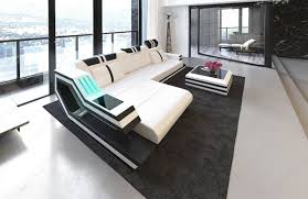 floor l with usb port hollywood l shape led contemporary leather sectionals sofadreams