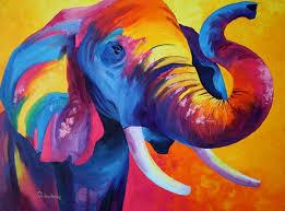 elephant painting 60x80 cm 2016 by tetiana gorbachenko art deco canvas